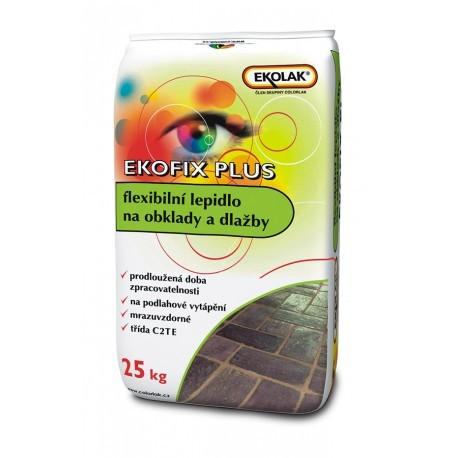 Ekofix plus flexibilné mrazuvz. lepidlo šedé 25kg