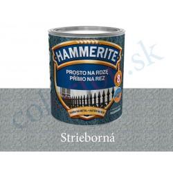 AkzoNobel Hammerite priamo na hrdzu kladivkový striebornošedý 0,25l