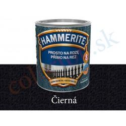 AkzoNobel Hammerite priamo na hrdzu kladivkový čierný 0,25l