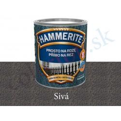AkzoNobel Hammerite priamo na hrdzu kladivkový šedý 0,25l