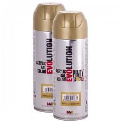Pinty plus Evolution akrylový sprej metalický MT192 zlatý