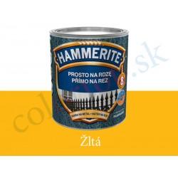 AkzoNobel Hammerite priamo na hrdzu hladký žltý 0,25l
