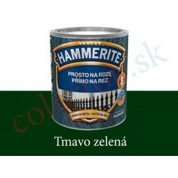 AkzoNobel Hammerite priamo na hrdzu hladký tmavo zelený 0,7l