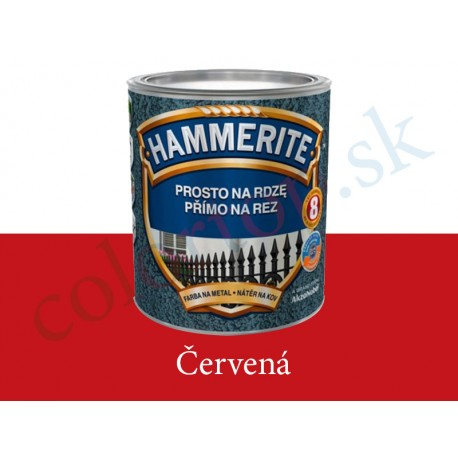 AkzoNobel Hammerite priamo na hrdzu hladký červený 0,7l
