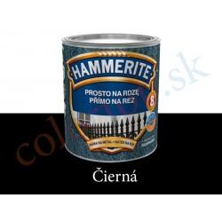 AkzoNobel Hammerite priamo na hrdzu hladký čierny 0,7l