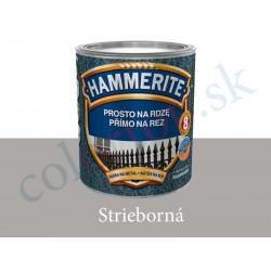 AkzoNobel Hammerite priamo na hrdzu hladký strieborný 0,7l
