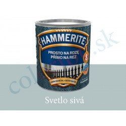AkzoNobel Hammerite priamo na hrdzu hladký svetlo šedý 0,25l