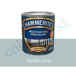 AkzoNobel Hammerite priamo na hrdzu hladký svetlo šedý 0,7l