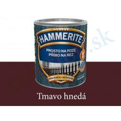 AkzoNobel Hammerite priamo na hrdzu hladký tmavo hnedý 0,25l